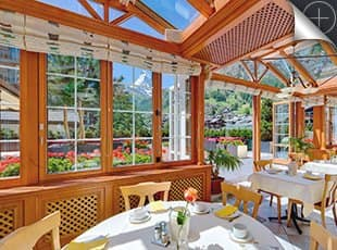Hotel Couronne Zermatt, Winter garden